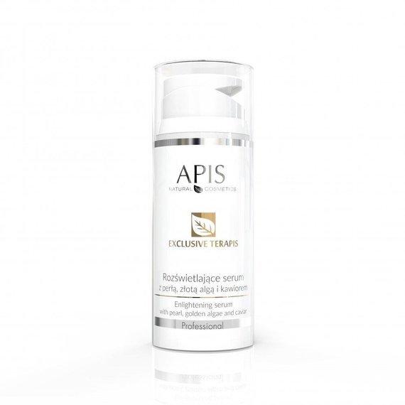 Rozświetlające serum Apis Exclusive Terapis z perłą, złotą algą i kawiorem 100 ml